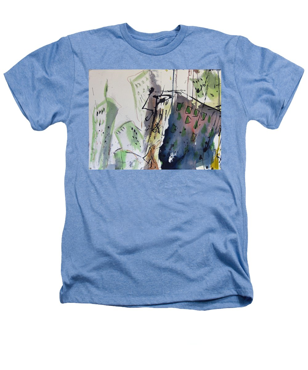 City Heathers T-Shirt featuring the painting Uptown by Robert Joyner