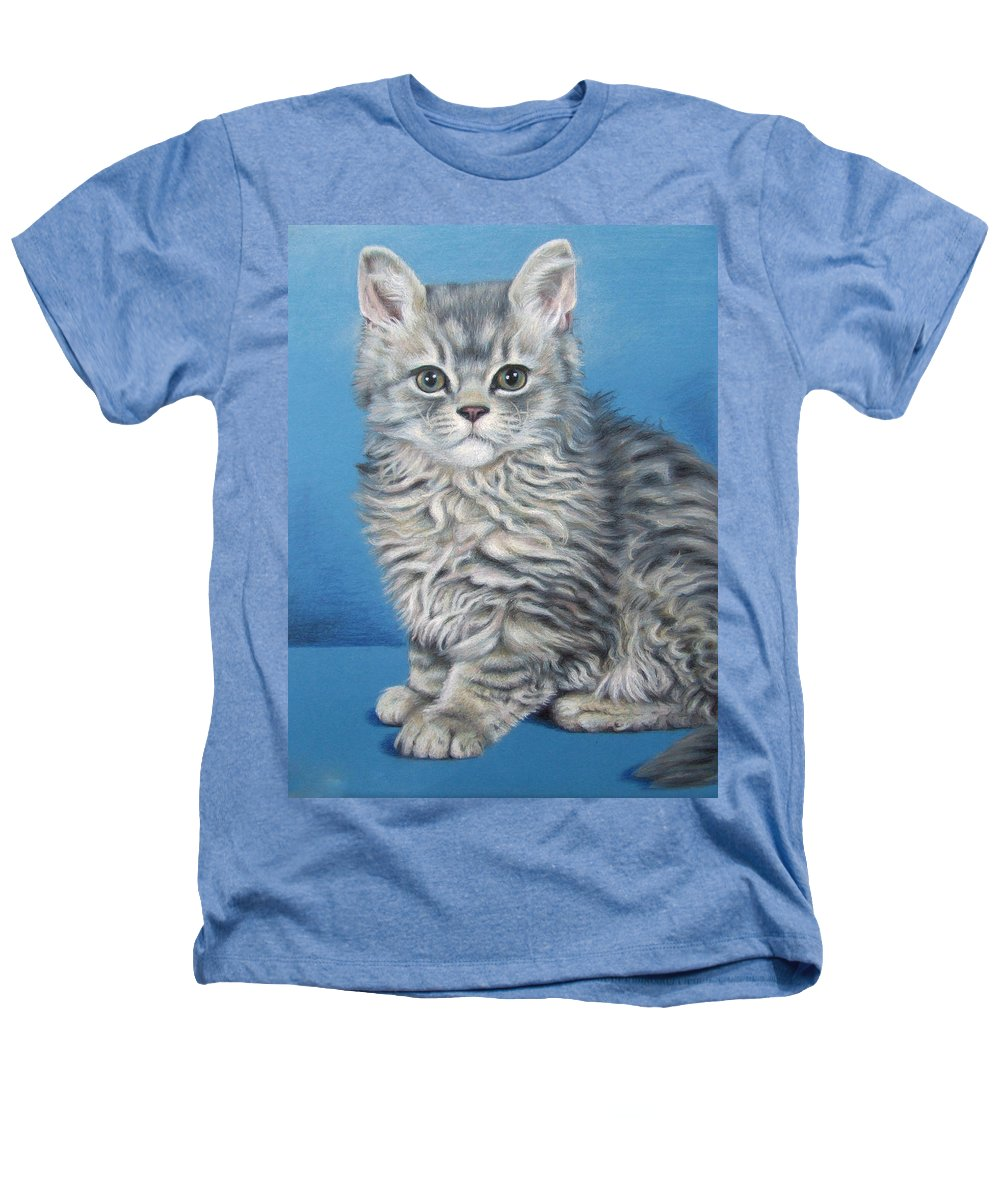Cat Heathers T-Shirt featuring the drawing Velvet Kitten by Nicole Zeug