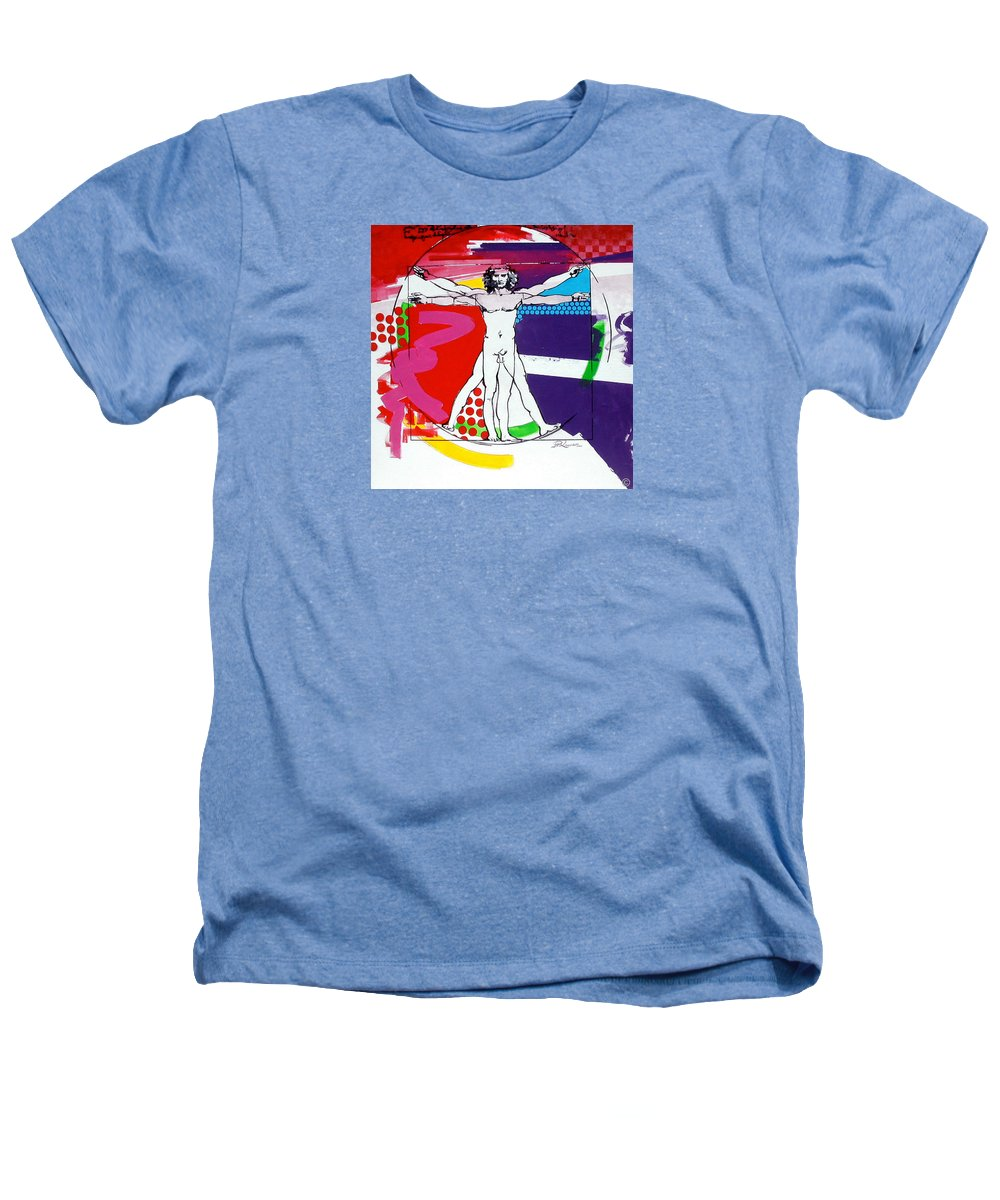 Classic Heathers T-Shirt featuring the painting Vetruvian by Jean Pierre Rousselet