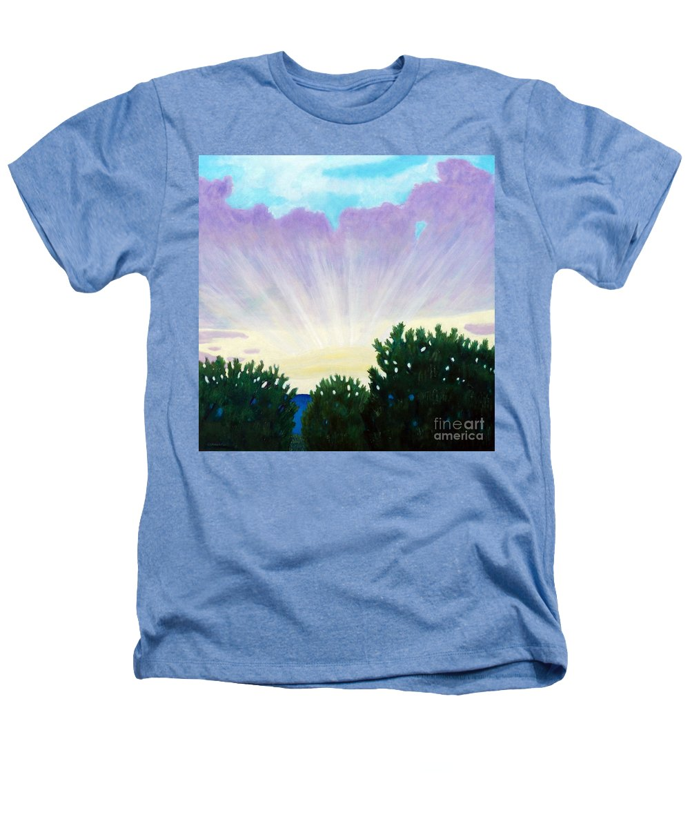 Skyscape Heathers T-Shirt featuring the painting Visionary Sky by Brian Commerford