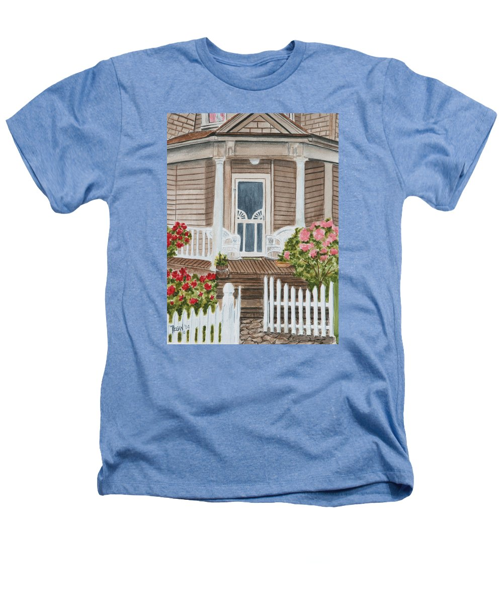 Architecture Heathers T-Shirt featuring the painting Welcome by Regan J Smith