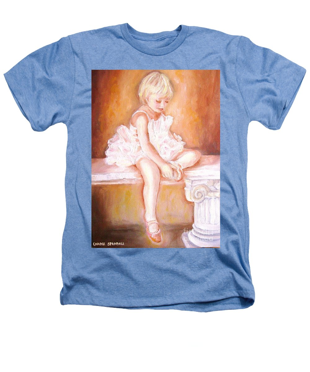 Ballerinas Heathers T-Shirt featuring the painting The Little Ballerina by Carole Spandau