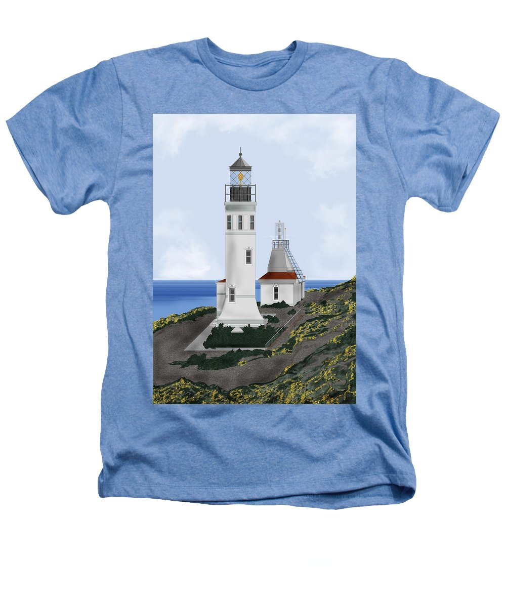 Lighthouse Heathers T-Shirt featuring the painting Anacapa Lighthouse California by Anne Norskog