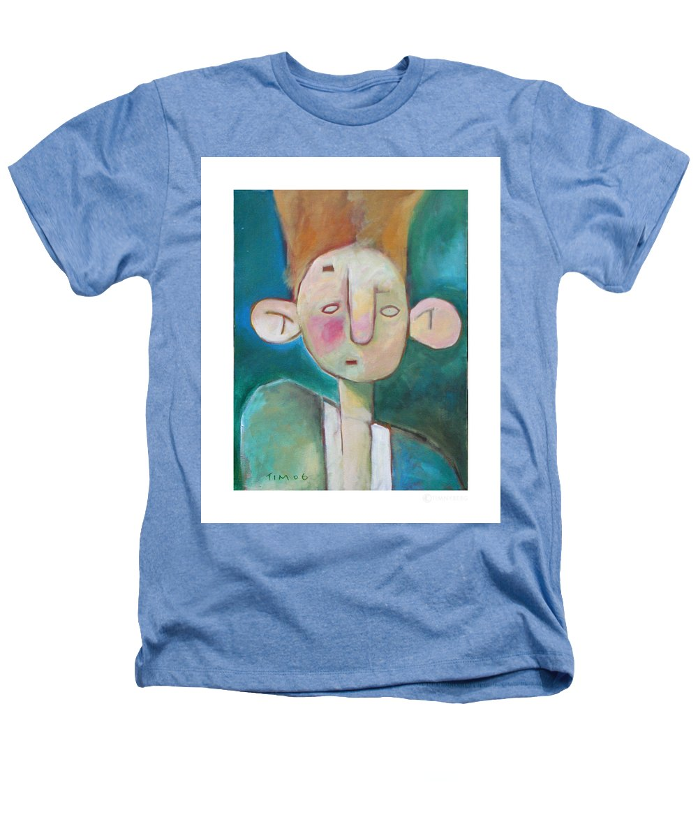 Funny Heathers T-Shirt featuring the painting Bad Hair Life by Tim Nyberg