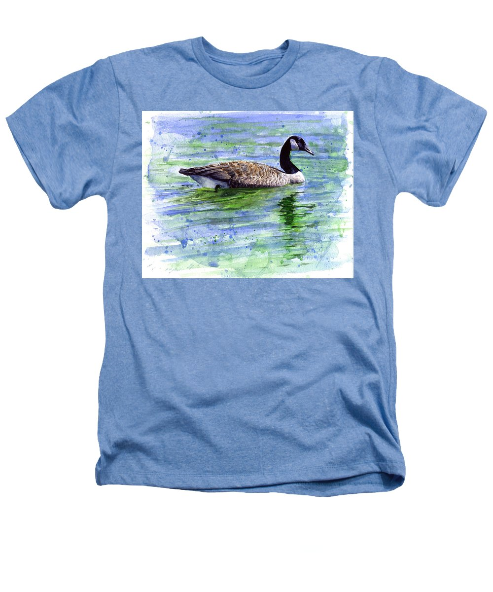 Bird Heathers T-Shirt featuring the painting Canada Goose by John D Benson