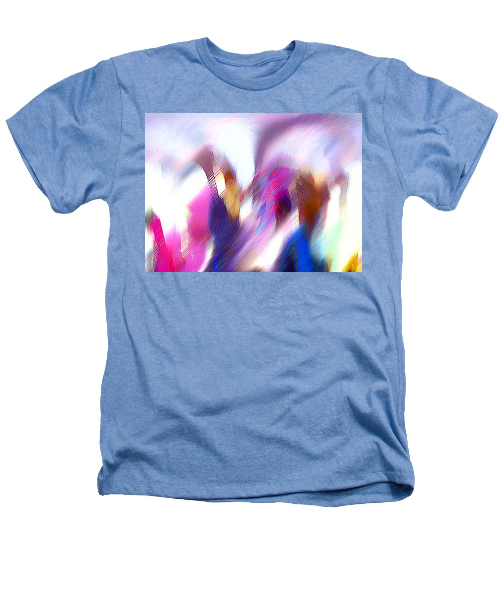 Digital Media Heathers T-Shirt featuring the painting Color Dance by Anil Nene