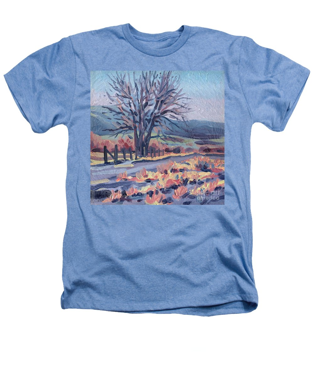 Road Heathers T-Shirt featuring the painting Country Road by Donald Maier