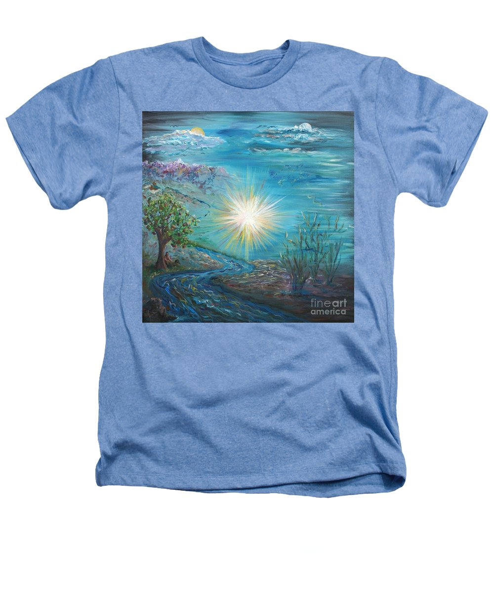Creation Heathers T-Shirt featuring the painting Creation by Nadine Rippelmeyer