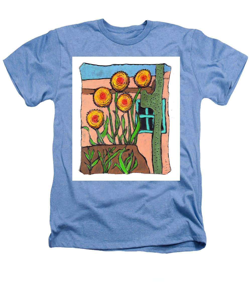 Desert Heathers T-Shirt featuring the painting Desert Fantasy by Wayne Potrafka
