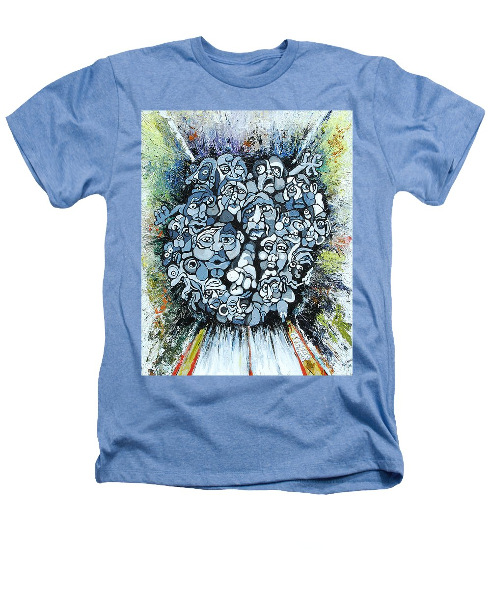 Surreal Heathers T-Shirt featuring the painting Elevator by Julie Fischer