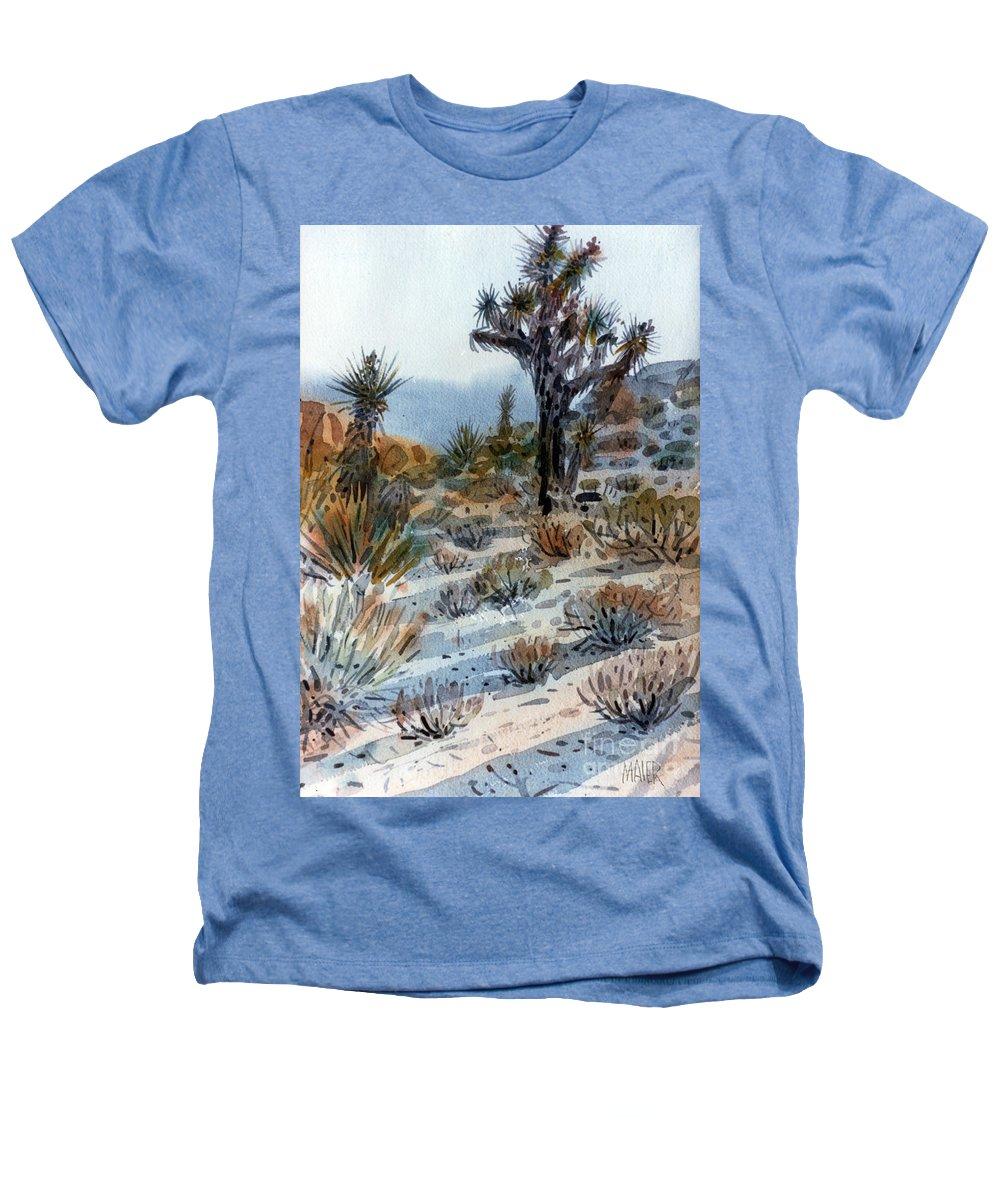Joshua Tree Heathers T-Shirt featuring the painting Joshua Tree by Donald Maier
