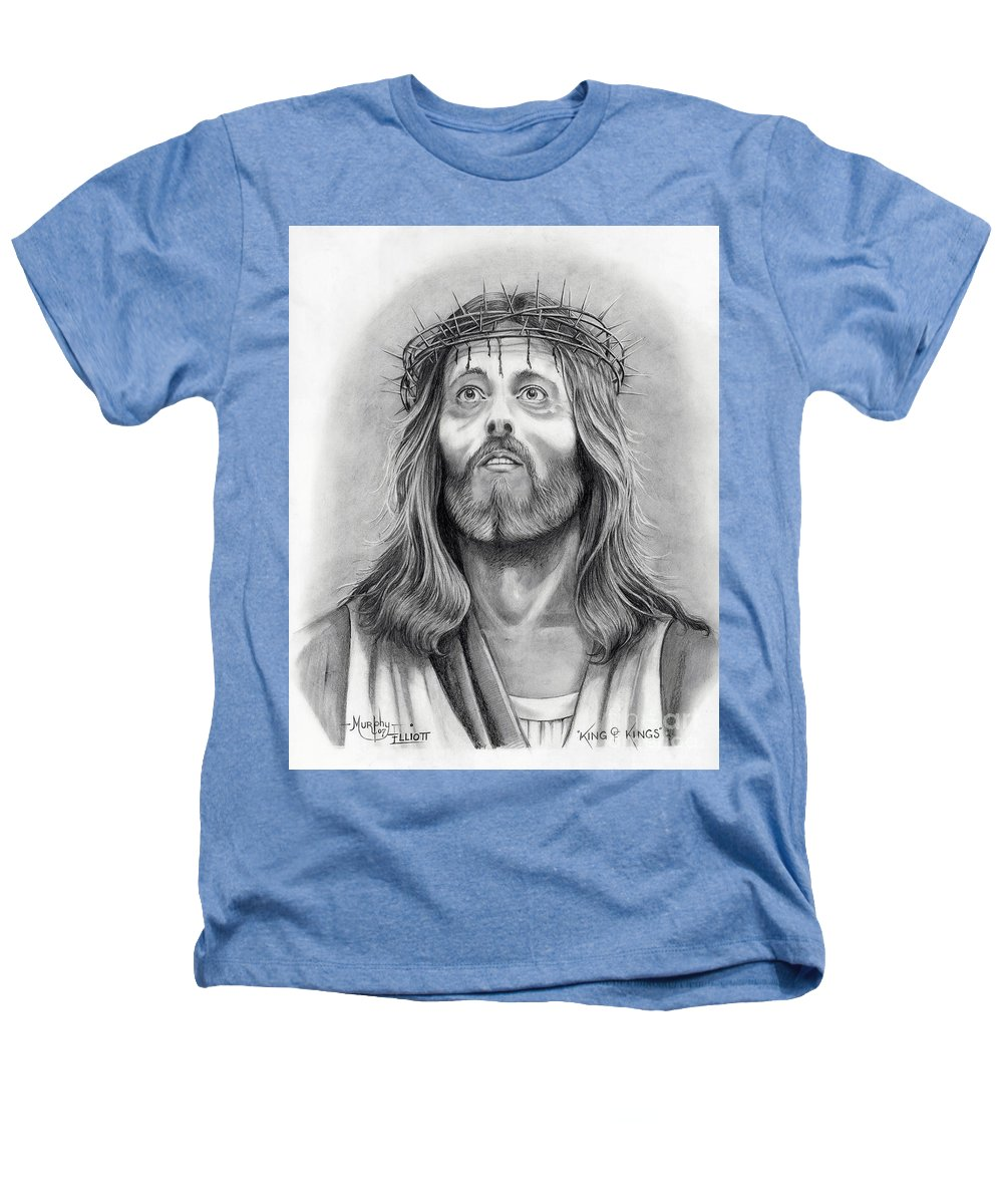 Jesus Christ Heathers T-Shirt featuring the drawing King Of Kings by Murphy Elliott
