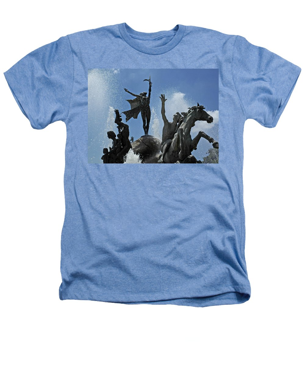 Statue Heathers T-Shirt featuring the photograph Old San Juan Puerto Rico by Tito Santiago