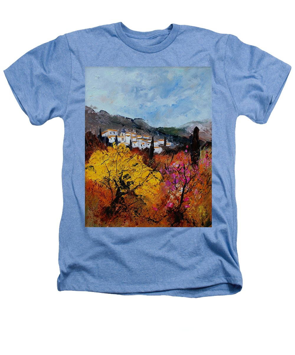 Provence Heathers T-Shirt featuring the painting Provence by Pol Ledent