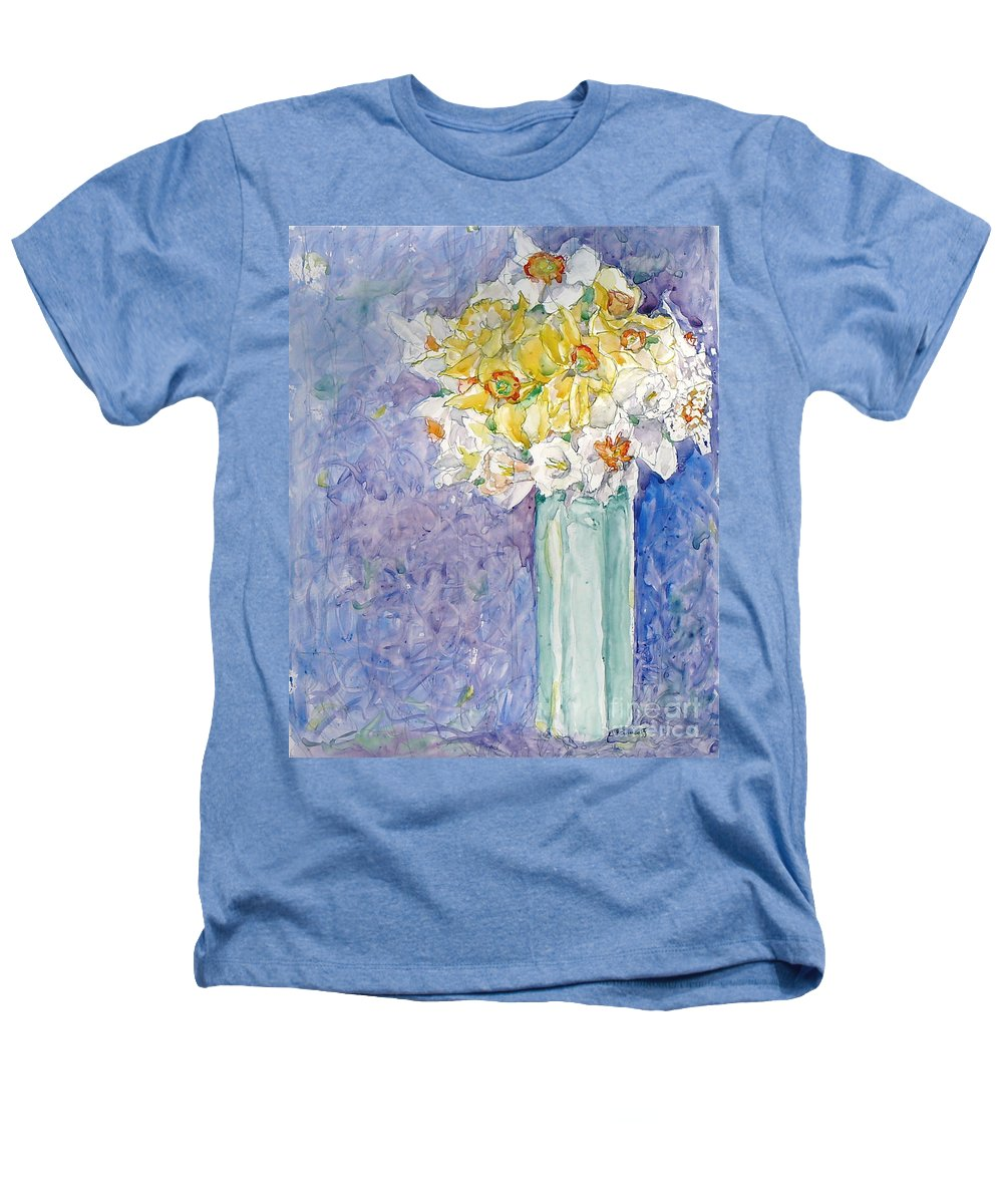 Watercolor Heathers T-Shirt featuring the painting Spring Blossoms by Jan Bennicoff