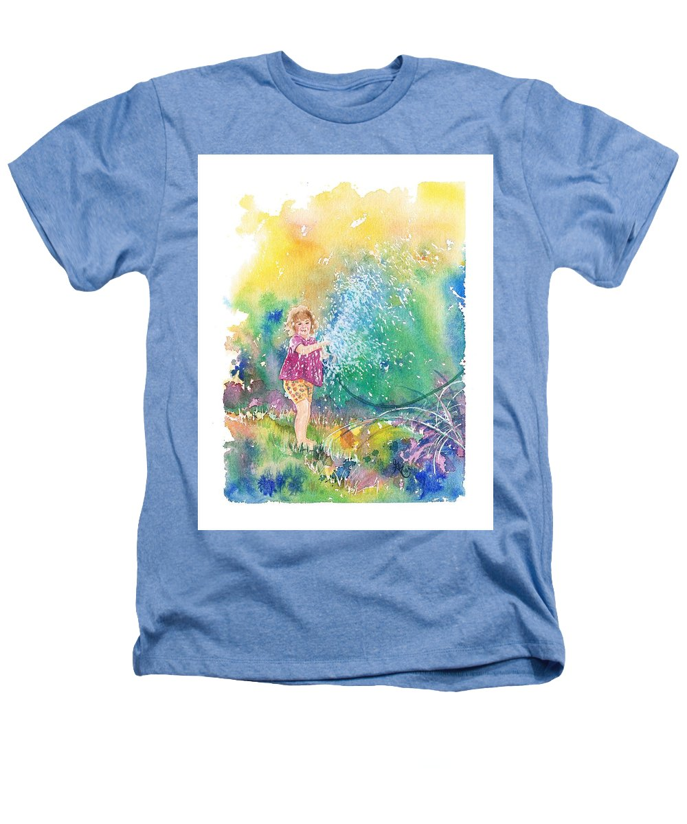 Children Heathers T-Shirt featuring the painting Summer Fun by Gale Cochran-Smith