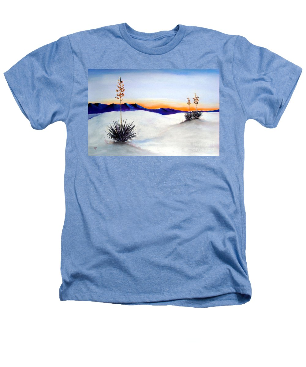 White Sands Heathers T-Shirt featuring the painting White Sands by Melinda Etzold