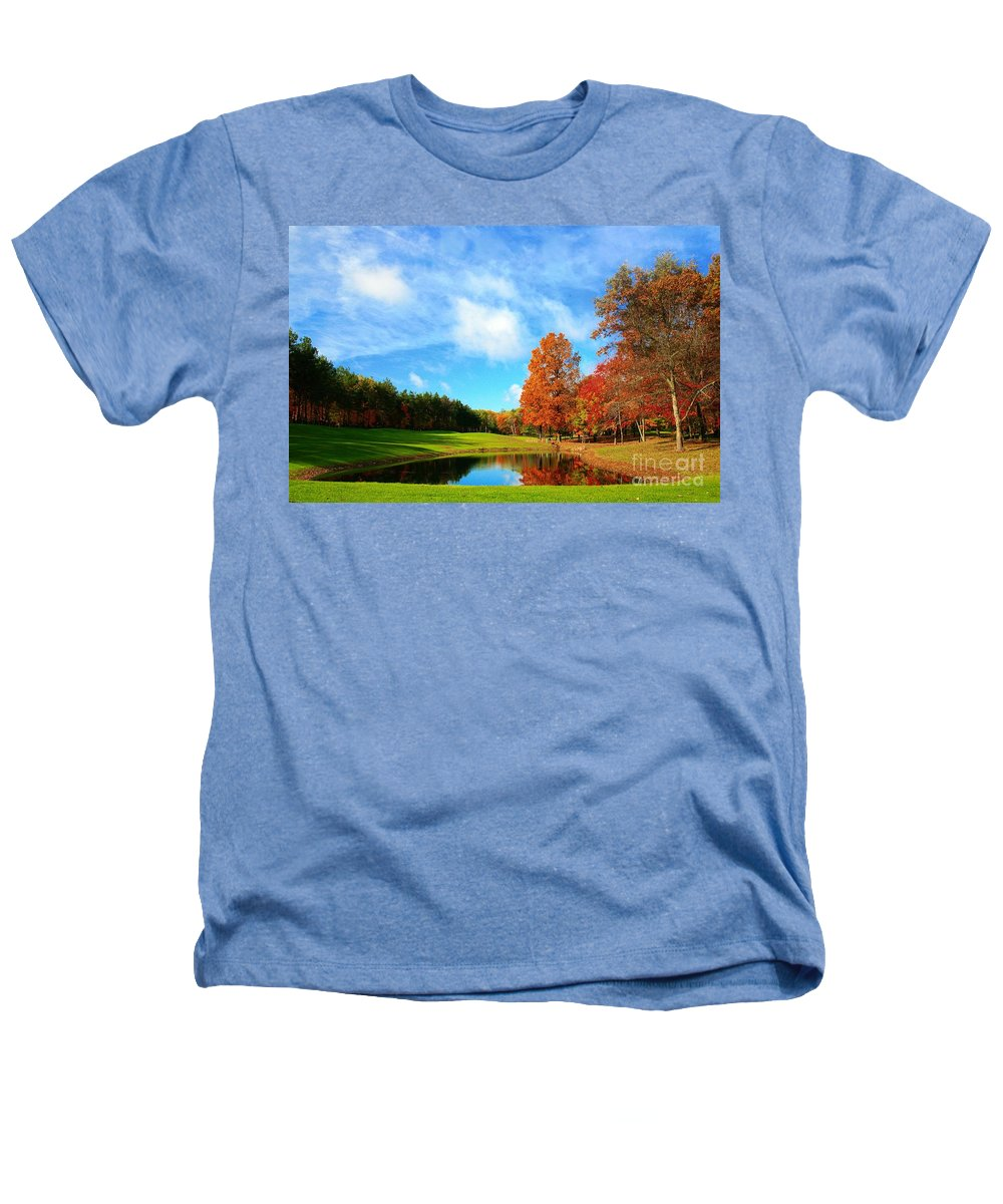 Golf Heathers T-Shirt featuring the photograph 18th Hole Par3 by Robert Pearson