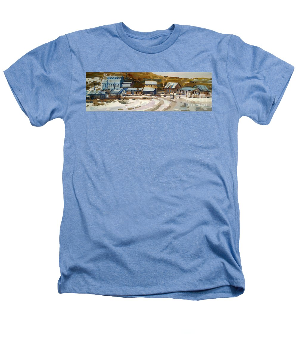 Ghost Town Heathers T-Shirt featuring the painting Bodie California 1979 by Donald Maier