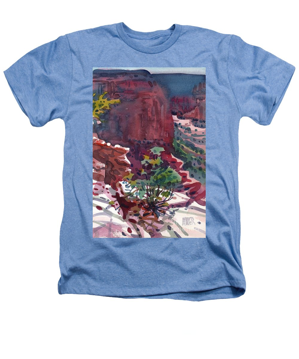 Canyon De Chelly Heathers T-Shirt featuring the painting Canyon View by Donald Maier