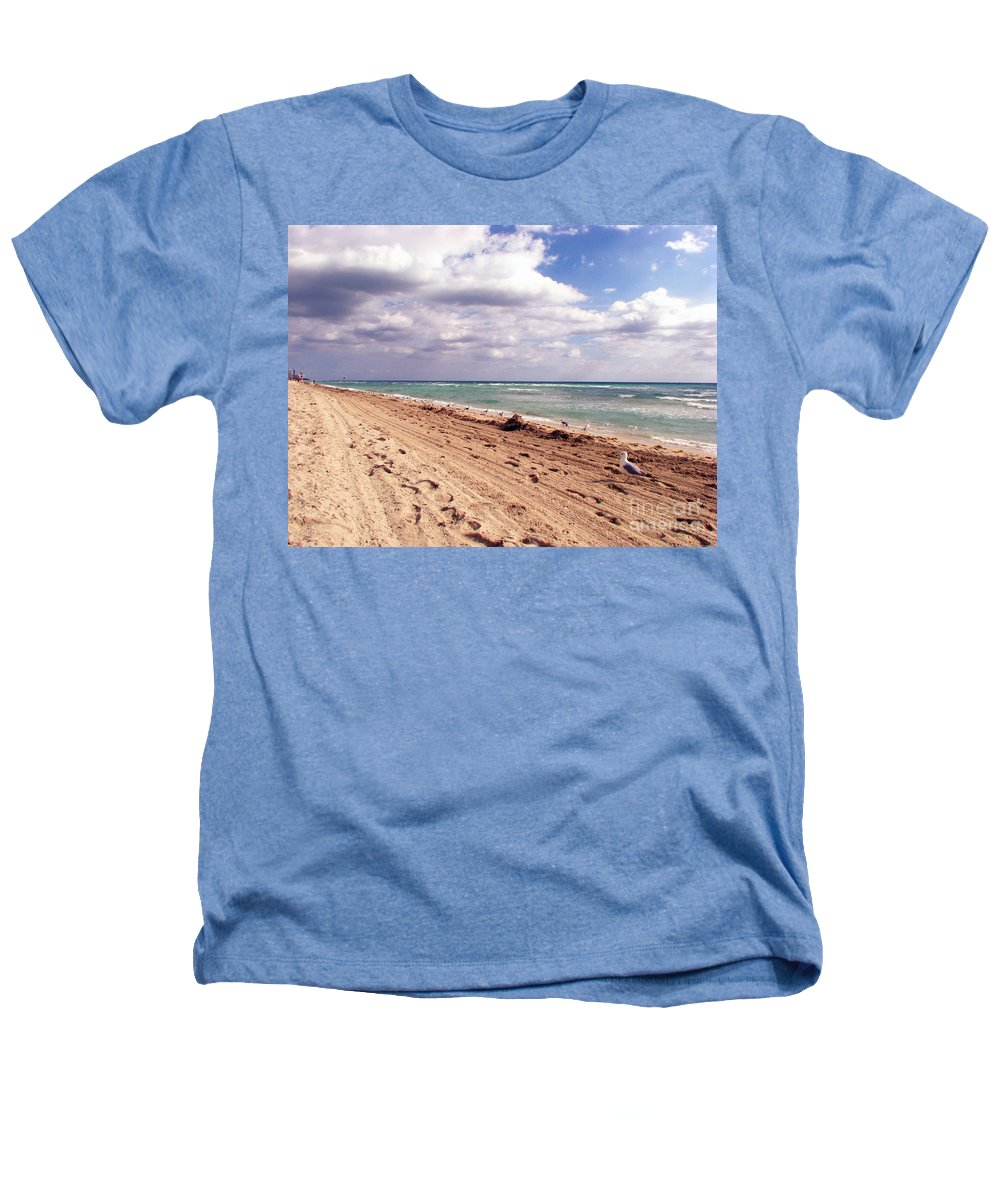 Beaches Heathers T-Shirt featuring the photograph Miami Beach by Amanda Barcon
