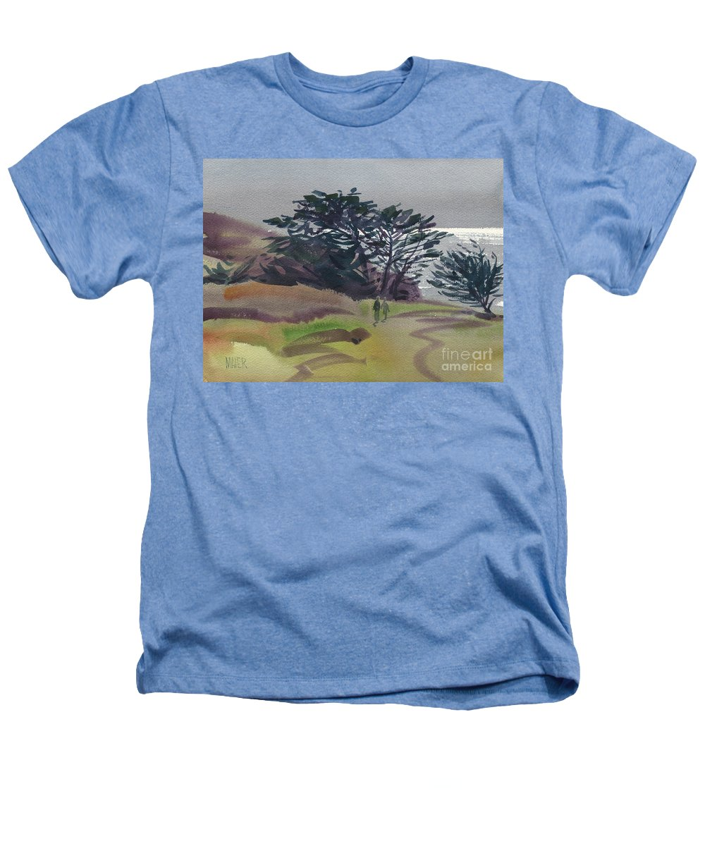 Plein Air Heathers T-Shirt featuring the painting Miramonte Point 1 by Donald Maier