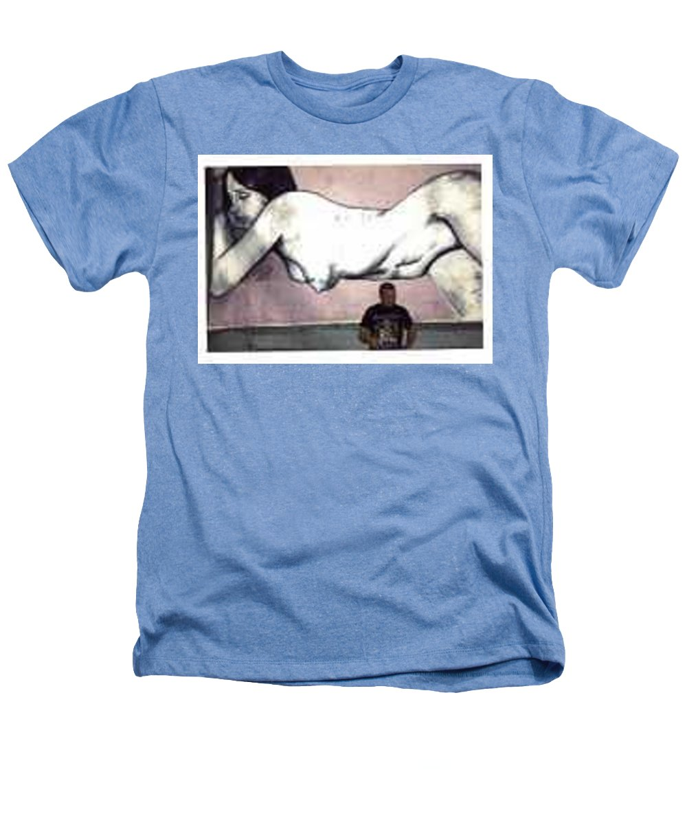 Nude Heathers T-Shirt featuring the painting Missy by Thomas Valentine