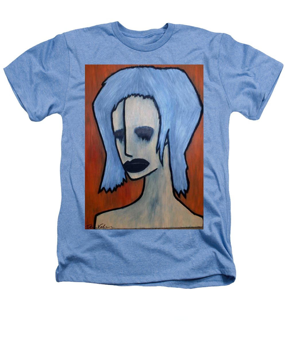Potrait Heathers T-Shirt featuring the painting Halloween by Thomas Valentine