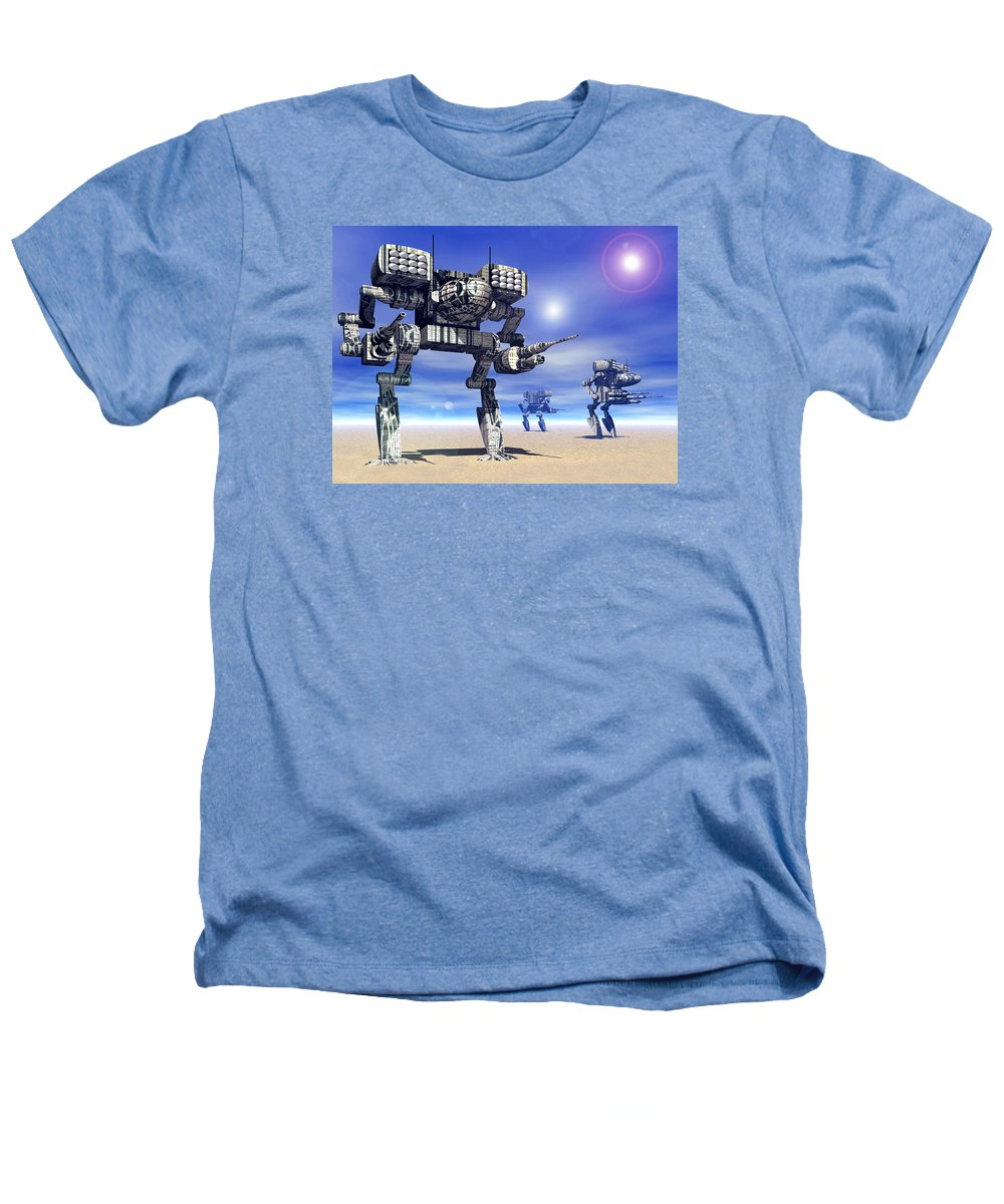 Science Fiction Heathers T-Shirt featuring the digital art 501st Mech Trinary by Curtiss Shaffer