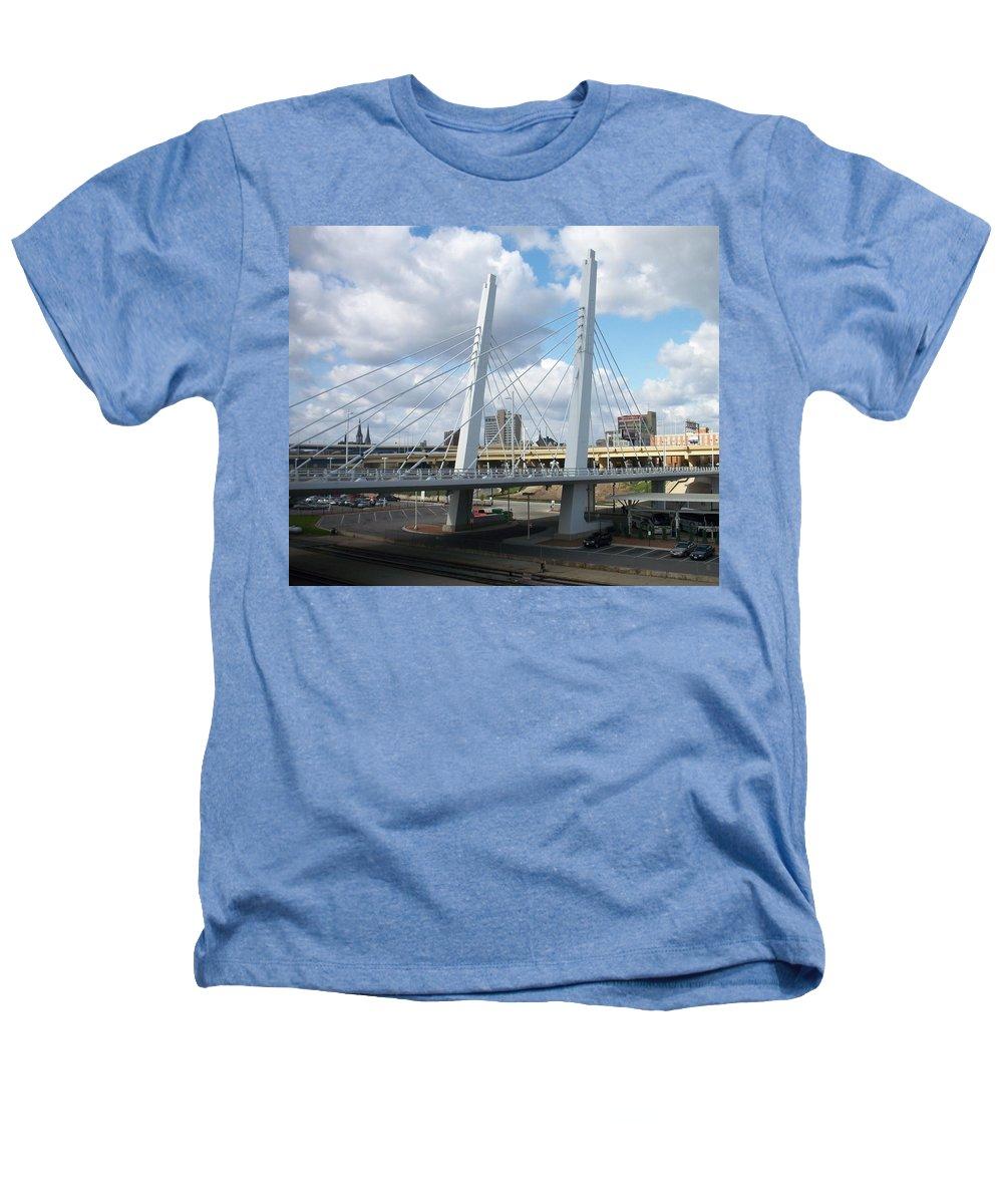 Bridge Heathers T-Shirt featuring the photograph 6th Street Bridge by Anita Burgermeister