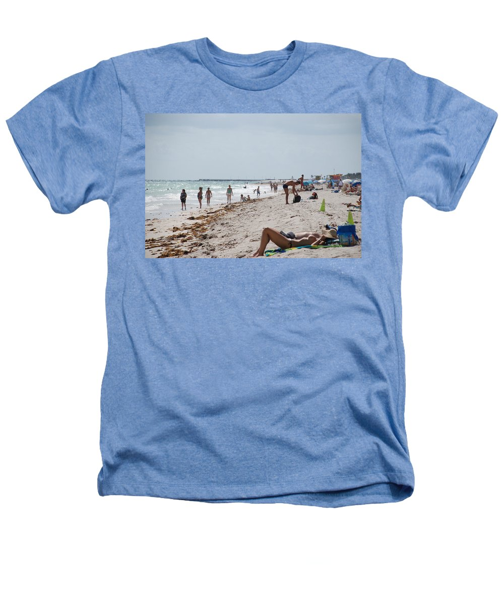 Nude Heathers T-Shirt featuring the photograph A Day At Paradise Beach by Rob Hans