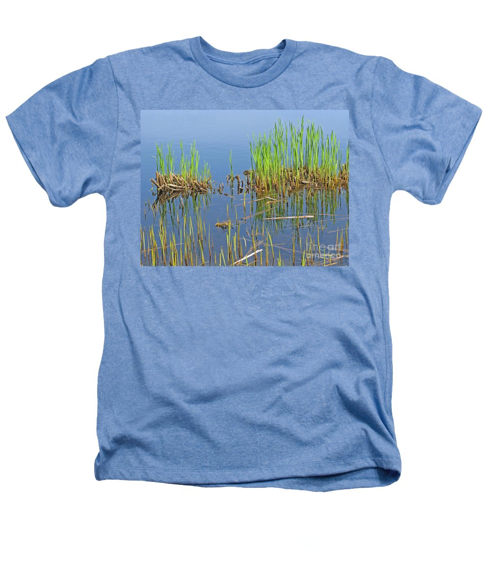 Spring Heathers T-Shirt featuring the photograph A Greening Marshland by Ann Horn