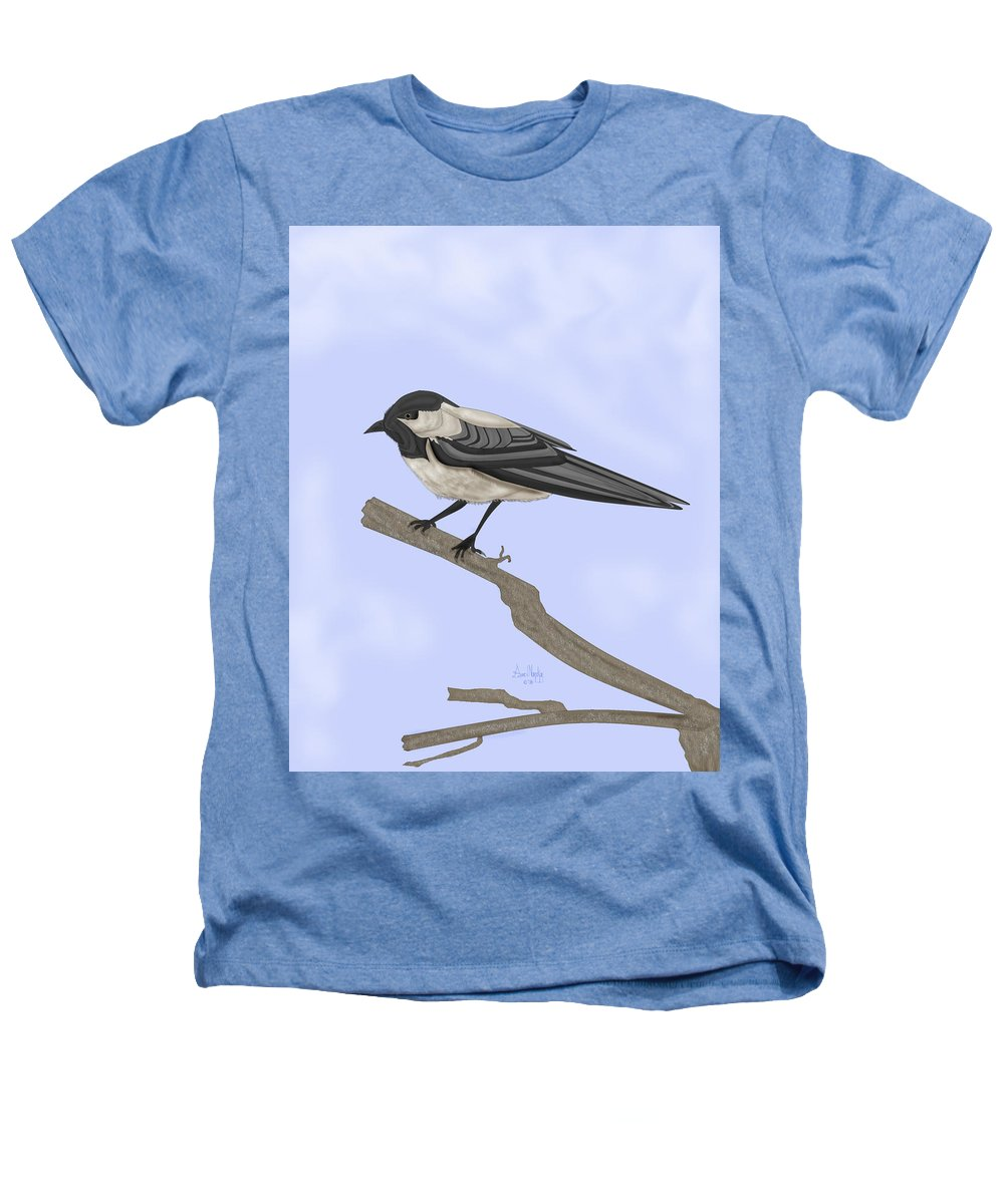 Bird Heathers T-Shirt featuring the painting A Small Guest by Anne Norskog