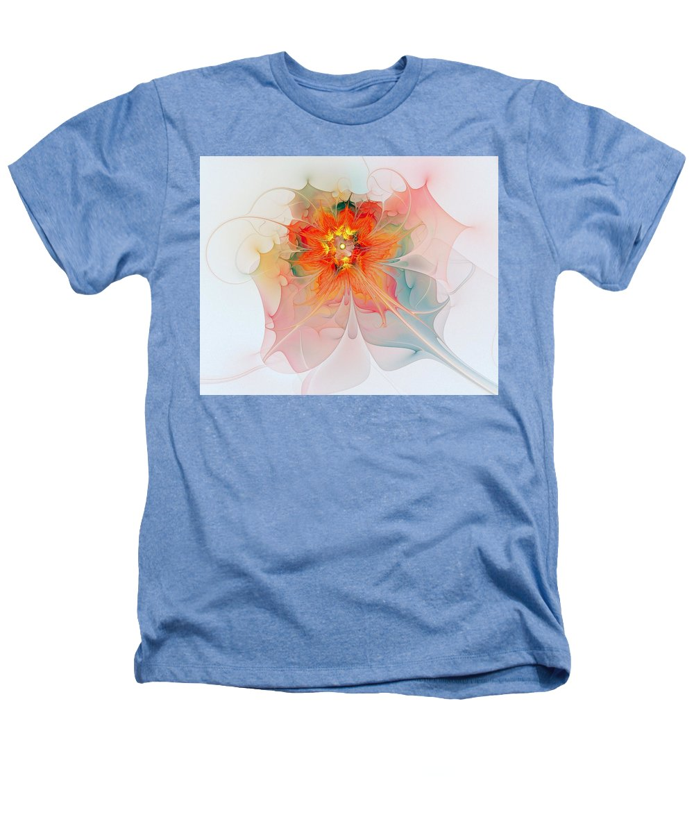 Digital Art Heathers T-Shirt featuring the digital art A Touch Of Spring by Amanda Moore