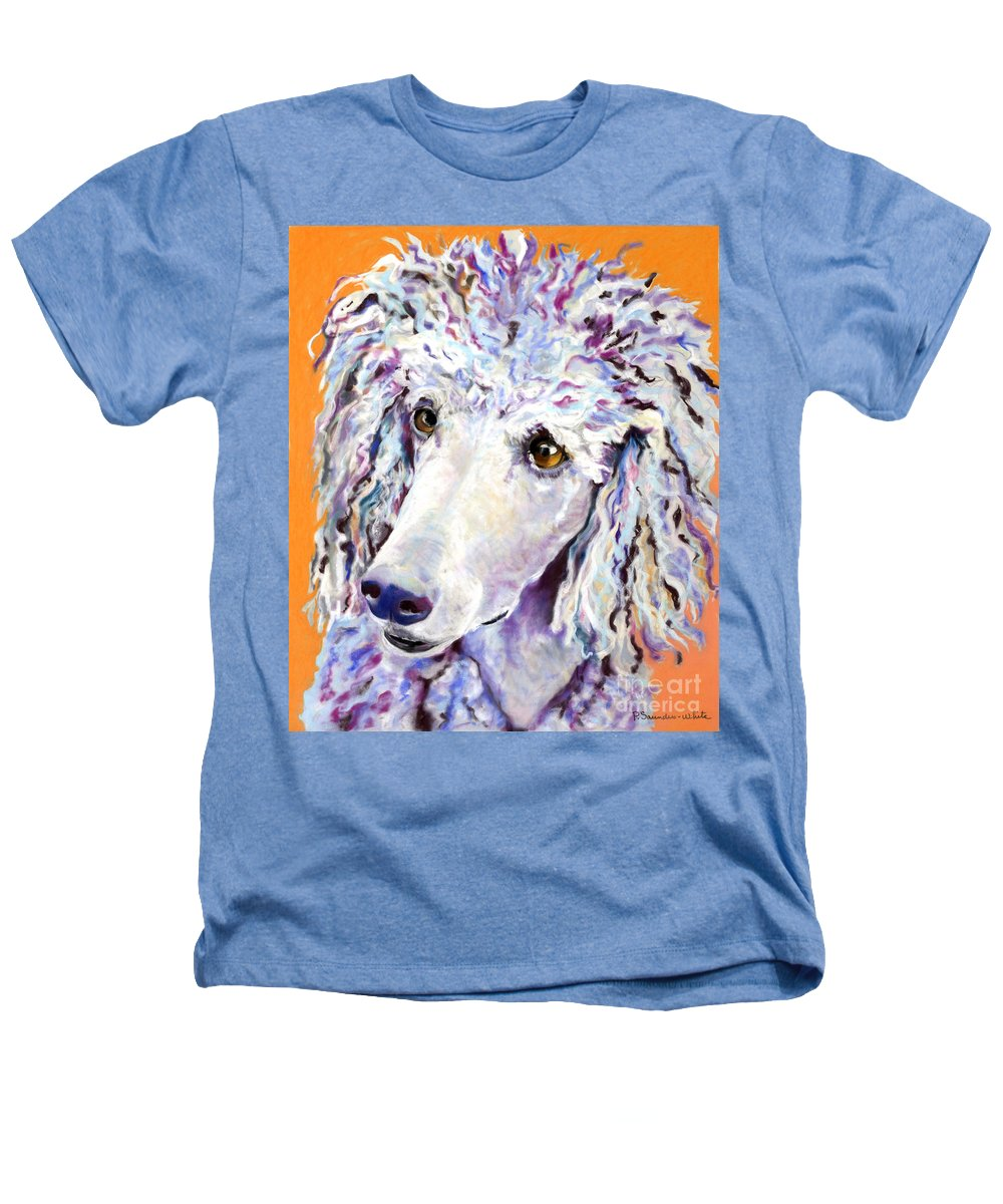 Standard Poodle Heathers T-Shirt featuring the pastel Above The Standard  by Pat Saunders-White