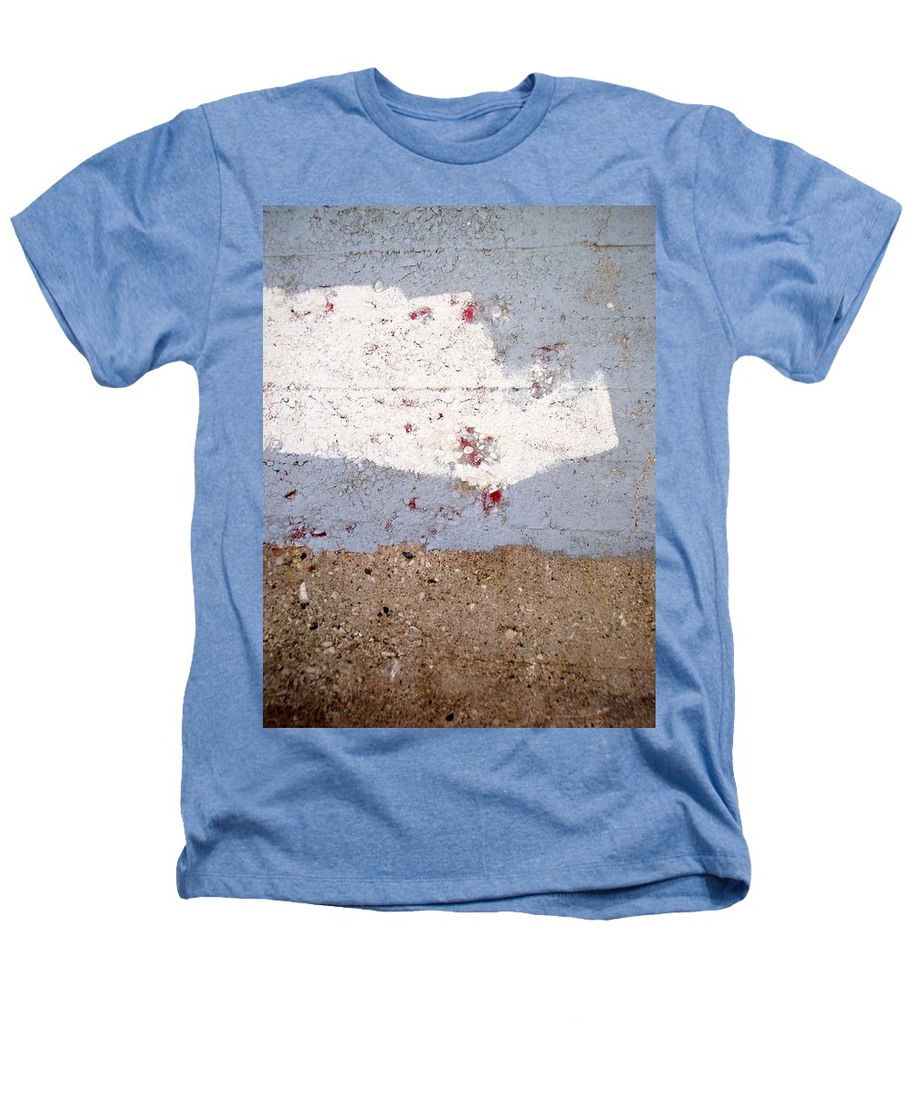 Industrial. Urban Heathers T-Shirt featuring the photograph Abstract Concrete 13 by Anita Burgermeister