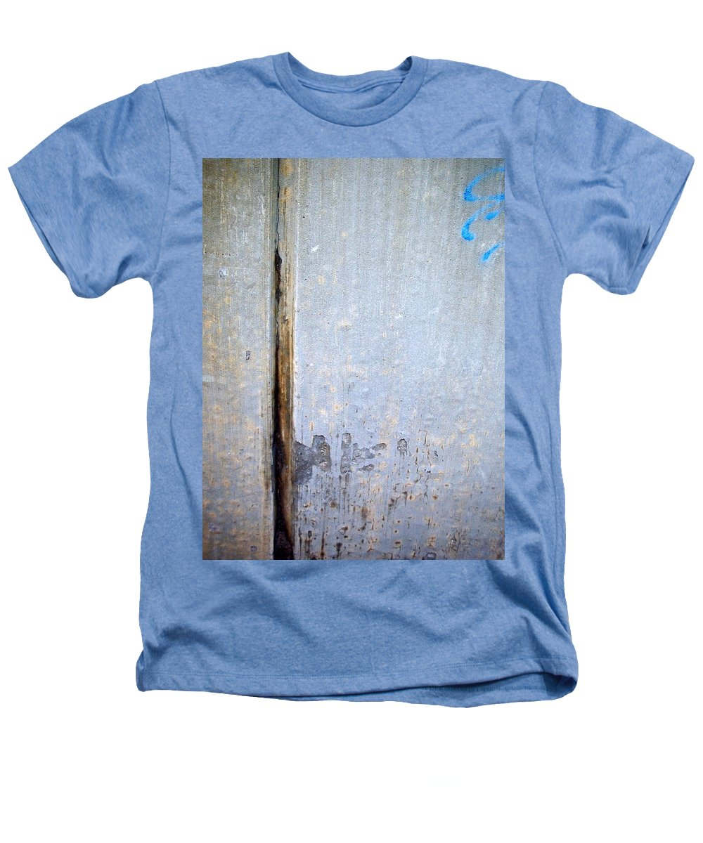 Industrial. Urban Heathers T-Shirt featuring the photograph Abstract Concrete 19 by Anita Burgermeister