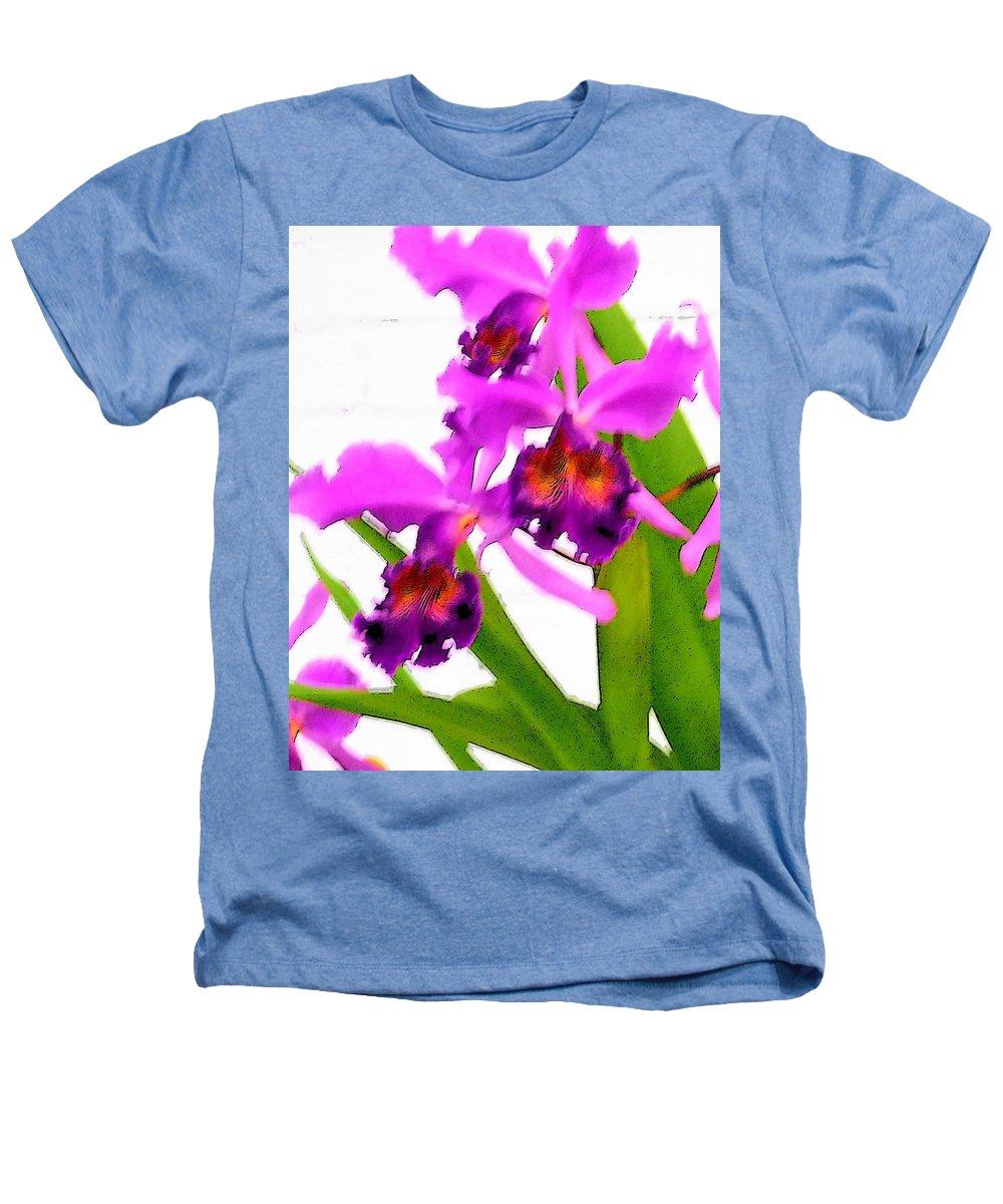 Flowers Heathers T-Shirt featuring the digital art Abstract Iris by Anita Burgermeister