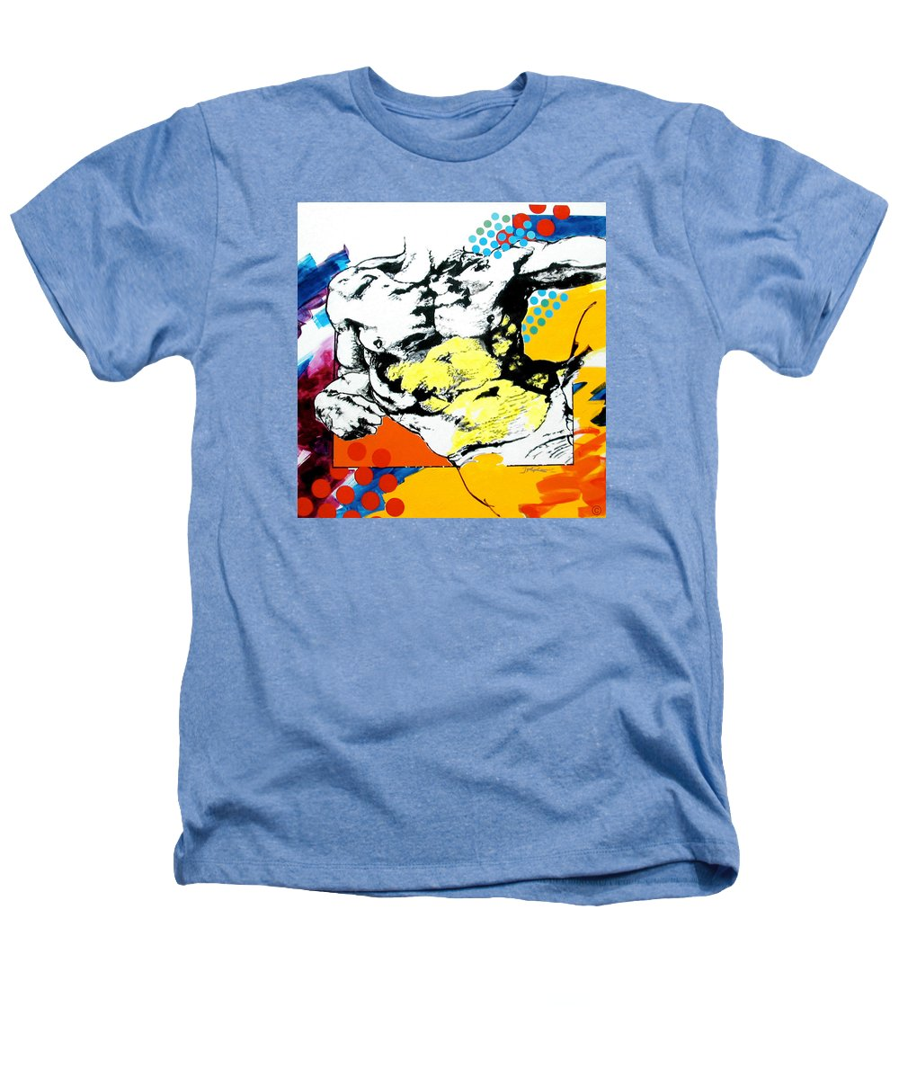 Pop Heathers T-Shirt featuring the painting Adam by Jean Pierre Rousselet