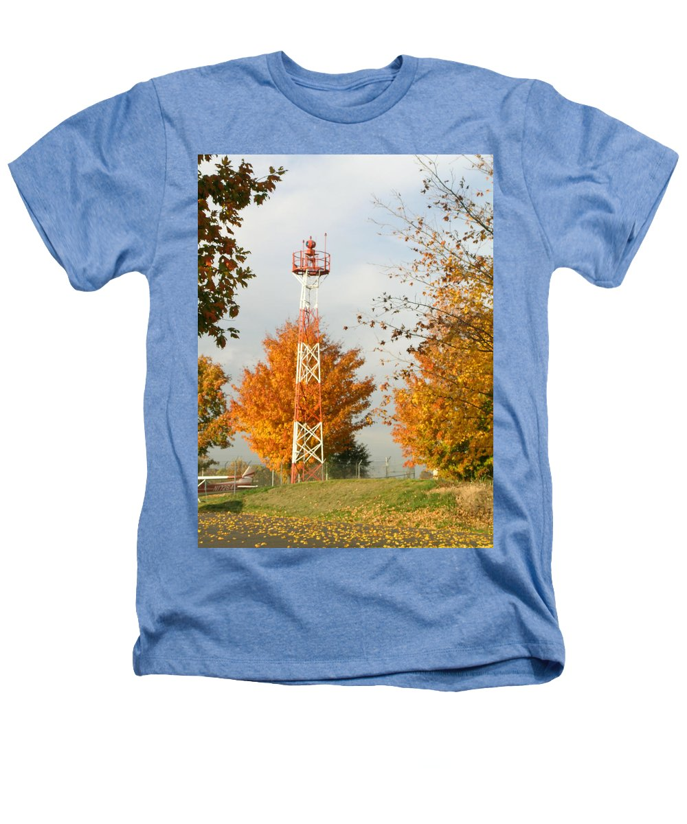 Airport Heathers T-Shirt featuring the photograph Airport Tower by Douglas Barnett