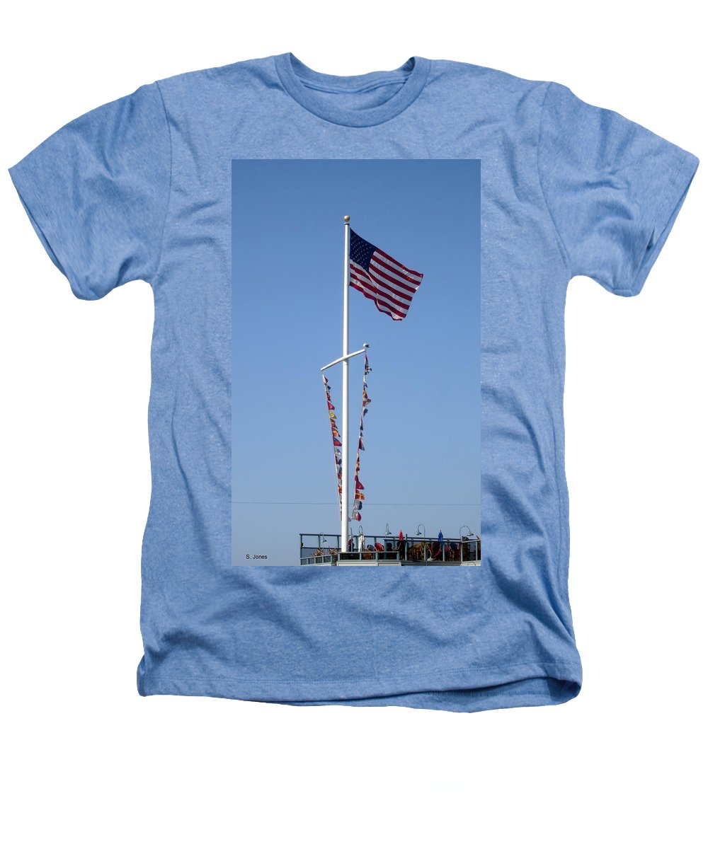 American Flag Heathers T-Shirt featuring the photograph American Flag by Shelley Jones