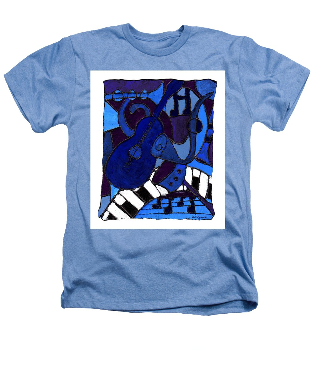 Blues Heathers T-Shirt featuring the painting and All that Jazz one by Wayne Potrafka