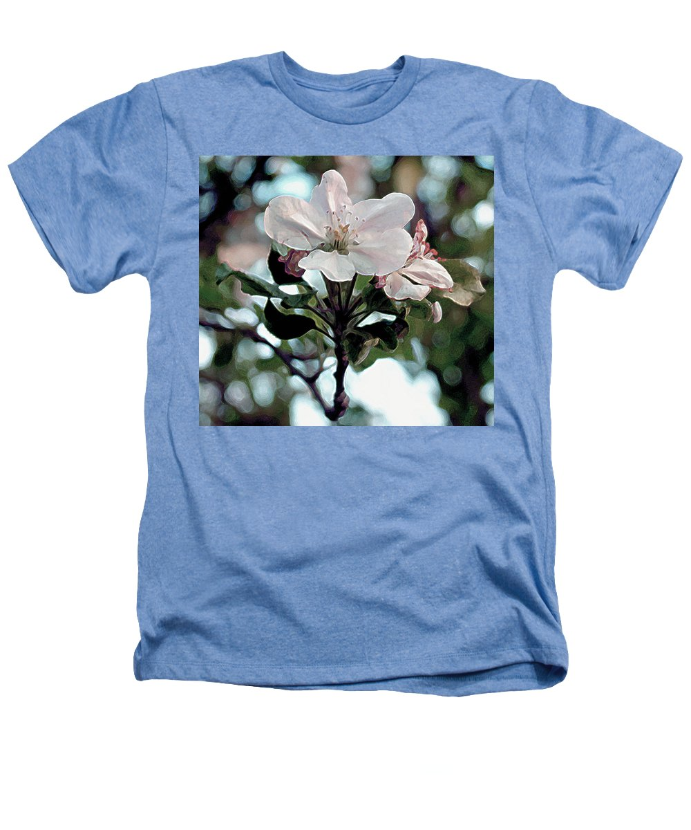 Flowers Heathers T-Shirt featuring the painting Apple Blossom Time by RC deWinter