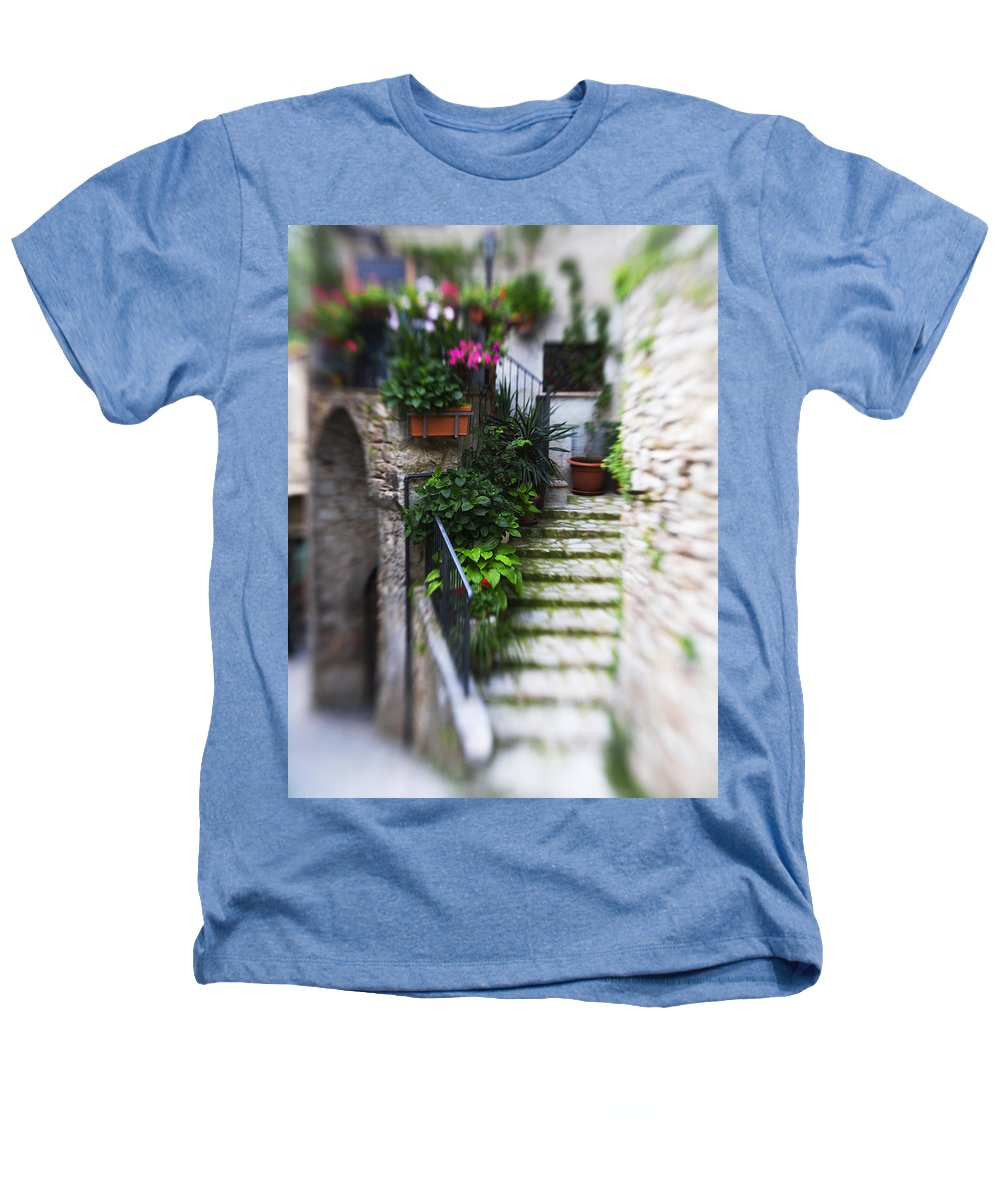 Italy Heathers T-Shirt featuring the photograph Archway And Stairs by Marilyn Hunt