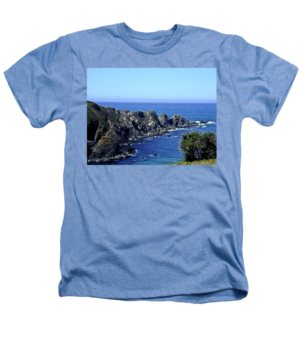 Arena Heathers T-Shirt featuring the photograph Arena Point California by Douglas Barnett