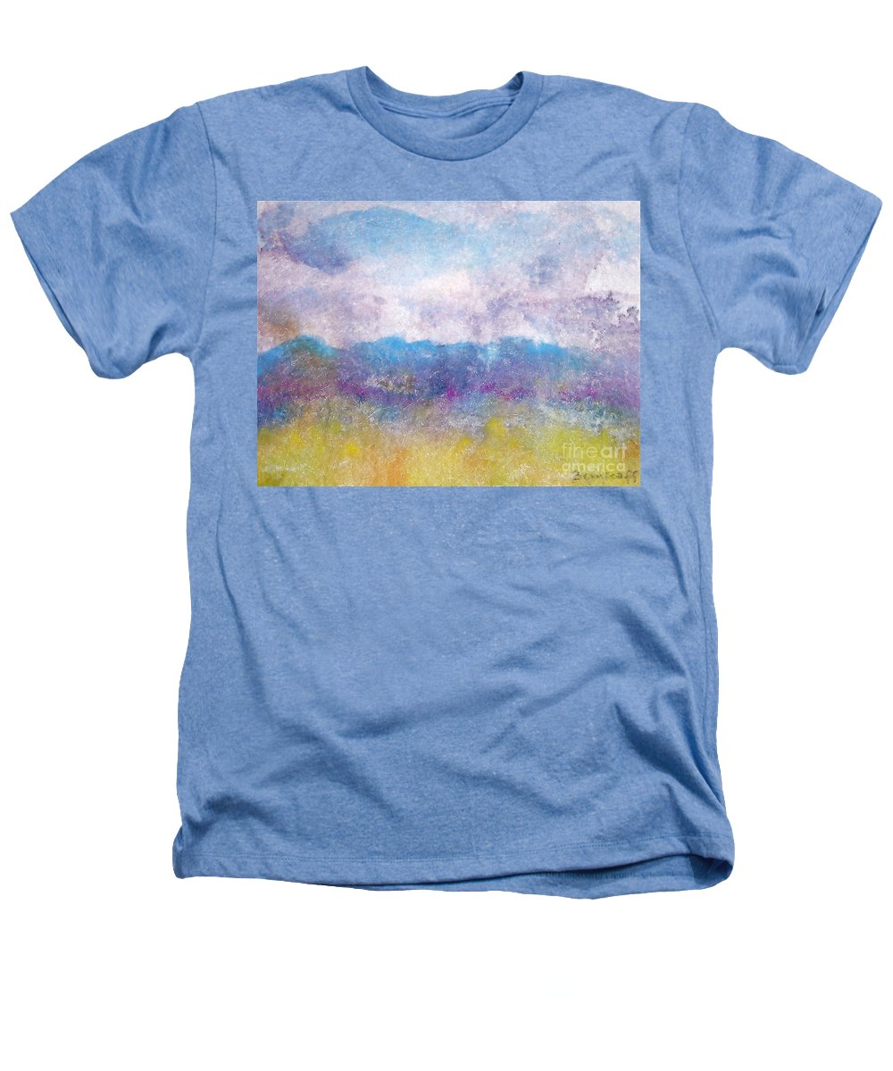 Abstract Heathers T-Shirt featuring the painting Arizona Impressions by Jan Bennicoff