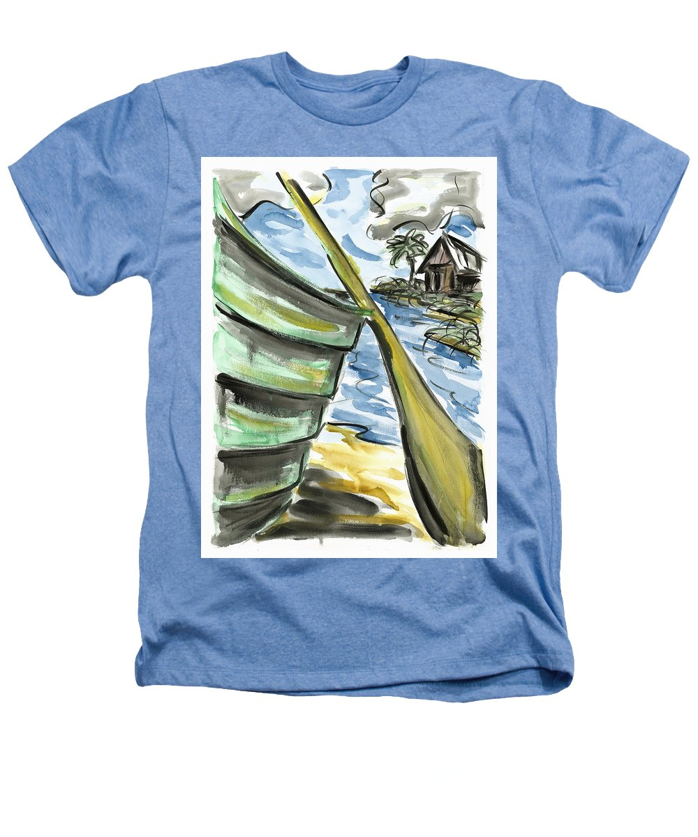 Seascape Heathers T-Shirt featuring the painting Ashore by Robert Joyner