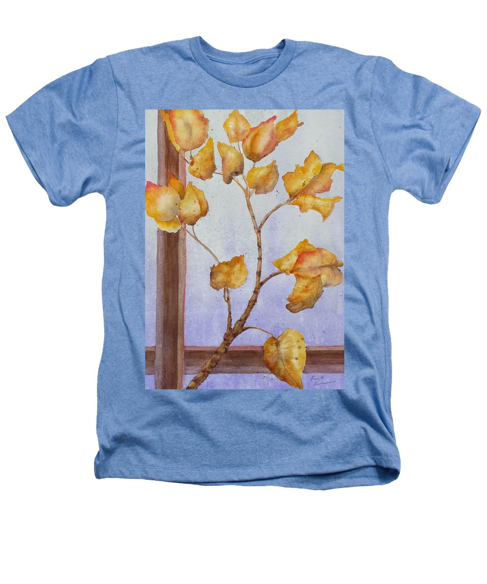 Leaves Heathers T-Shirt featuring the painting Aspen by Ruth Kamenev