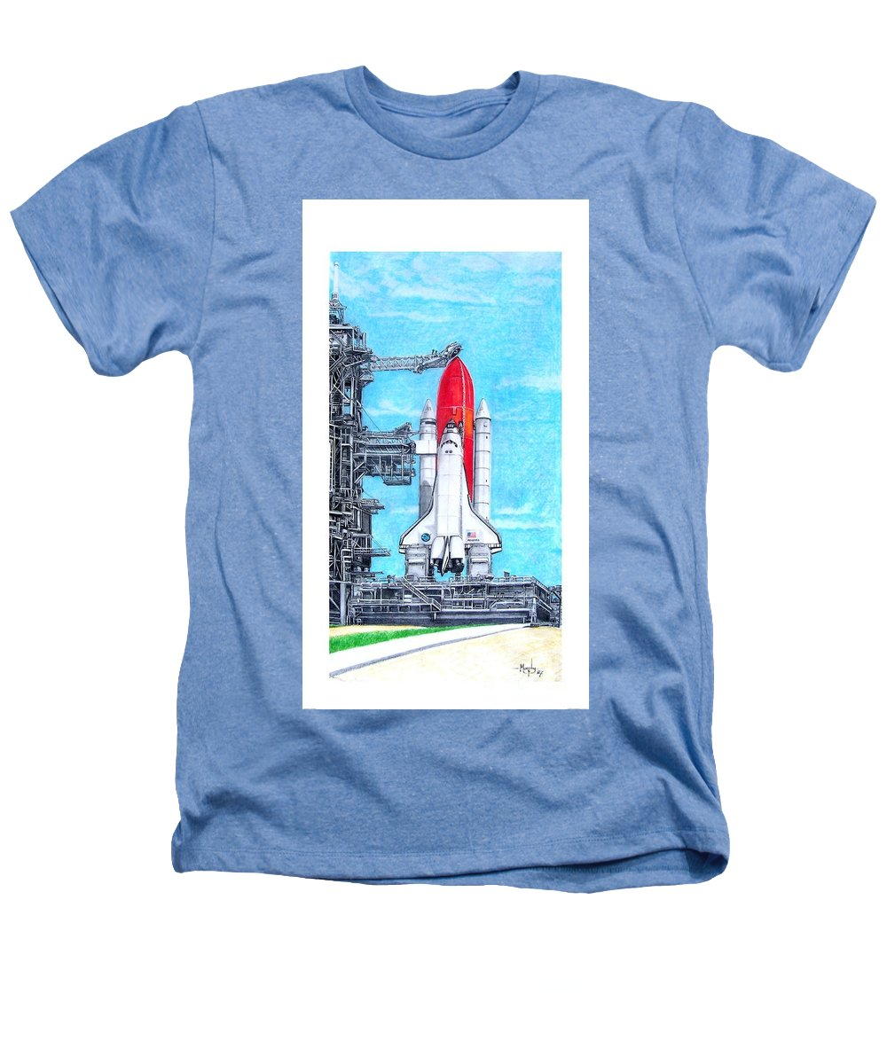 Drawing Heathers T-Shirt featuring the drawing Atlantis by Murphy Elliott