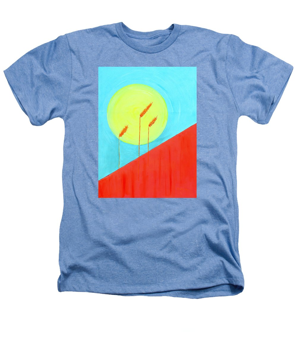 Landscape Heathers T-Shirt featuring the painting Autumn Harvest by J R Seymour